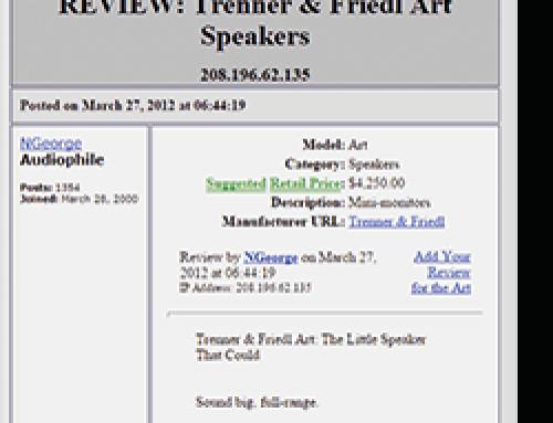 Trenner & Friedl ART Audio Asylum