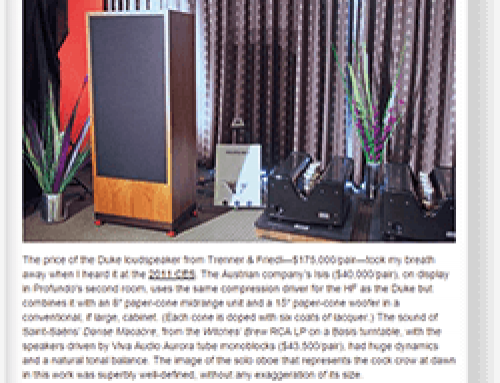 Trenner & Friedl ISIS Stereophile