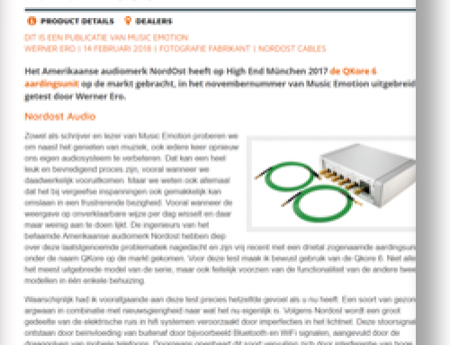 Nordost Qkore Hifi nl & Music Emotions